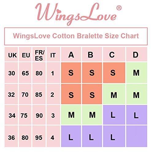 Wingslove Damen Klassische BHs underwear Bustier ohne Bügel Büstenhälter 3er Pack - Schwarz/Weiß/Grau