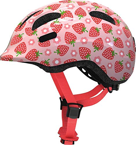 Abus Unisex- Babys Smiley 2.1 Fahrradhelm, rosa Strawberry, S