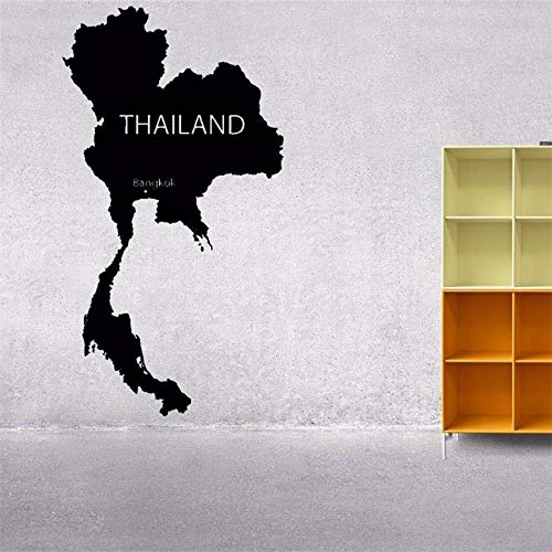 zqyjhkou Weltkarte Thailand Planet Silhouette Vinyl Aufkleber Wandtattoo Dekor Raumkunst Dekor Wohnkultur Wandtattoo Wandtattoo D936 85 x 46 cm - Honig Francisco San