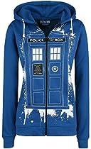 Doctor Who Tardis Graffiti Veste à Capuche Femme bleu