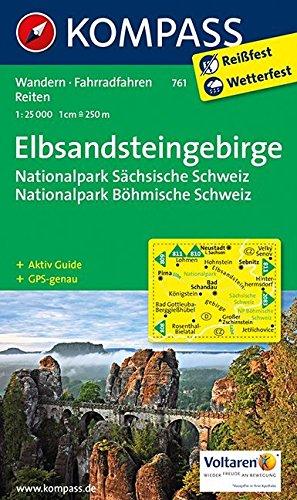 Elbsandsteingebirge NP 761 GPS wp kompass par Kompass-Karten