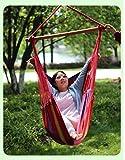 Massage Silla de Hamaca Colgante de Cuerda colgada - Máx. 265 LB - Cojines de Asiento incluidos Patio Exterior Hamaca Colgante,rainbowstrip,M