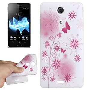 Daisy and Butterfly Pattern TPU Protective Case for Sony Xperia TX / LT29i