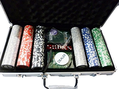 300 Pcs Poker Chip Set Casino size + Aluminium Case
