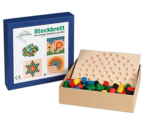Unbekannt Egermann EH212/230 - Steckspielbrett Holzsteckspiel Kreis, Kleinkindspielzeug Preisvergleich