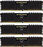 Corsair CMK16GX4M4C3200C15 Vengeance LPX 16GB (4x4GB) DDR4 3200Mhz Mémoire Pour Ordinateur De Bureau Haute Performance Avec Profil XMP 2.0 Noir