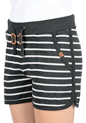 BLEND SHE Kira Damen Sweat-Shorts kurze Hose Sporthose aus hochwertiger  Baumwollmischung Charcoal (70818 562558a89f