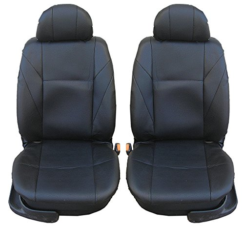 flexzon SS BLACK Front Leather Black Seat Covers