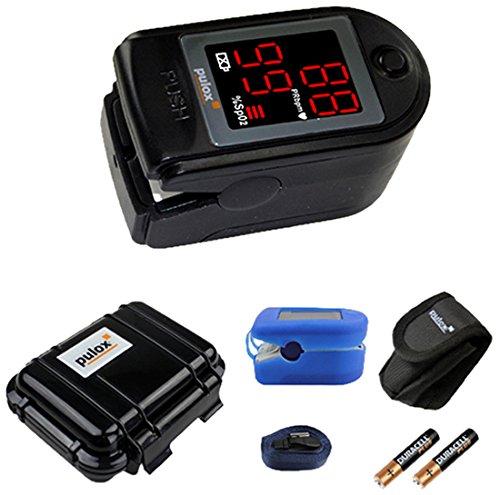 Pulox Pulsoximeter mit LED-Anzeige PO-100, schwarz