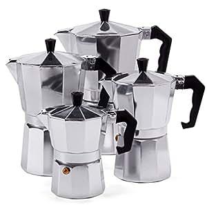 espressokocher espresso mokka maker aluminium f r 3 6 9 oder 12 tassen espressomaschine 9. Black Bedroom Furniture Sets. Home Design Ideas
