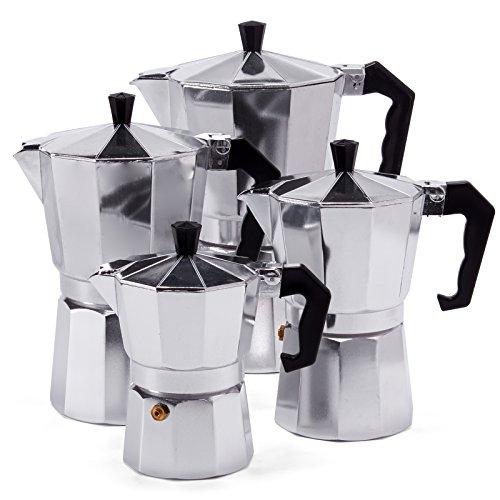 Espressokocher Espresso Mokka Maker Aluminium für 3,6,9 oder 12 Tassen Espressomaschine (9 Tassen)