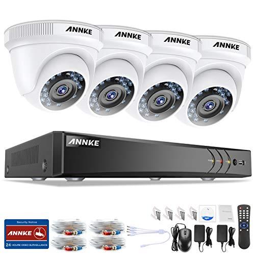 ANNKE 1080P Überwachungskamera System 4 x 1080P Wetterfest HD-Kamera Außen und 4CH DVR ohne Festplatte 1080P Dome Überwachungskamera Set Bewegungsmelder 30M IR Nachtsicht