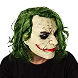 VVV 2019 Film Joker Arthur Fleck Latex Kopfmaske Cosplay Horror Scary Clown Gruseliger Maske Mit Dem Grünen Haar Perücke Partei Kostüme