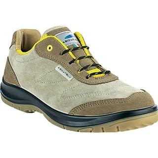 Aboutblu 1930101la _ 45Sparrow Beige-Yellow S3Work Shoe, Size 45, beige/yellow