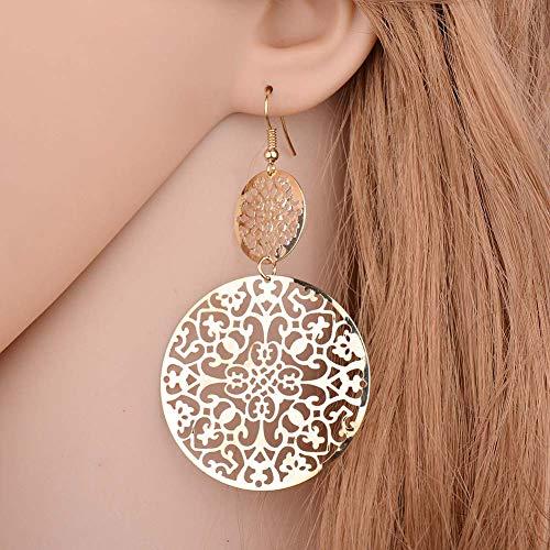 Besteu orecchini donna pendenti orecchini lunghi modello classico orecchini pendenti bigiotteria tondi per ragazza