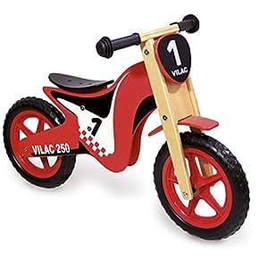 Draisienne Vélo d'enfant sans pédales forme moto / draisienne Rouge -