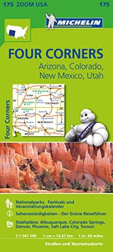 Michelin Four Corners, Arizona, Colorado, New Mexiko, Utah: Straßen- und Tourismuskarte 1:1.267.200 (MICHELIN Zoomkarten) - Lake-colorado Springs