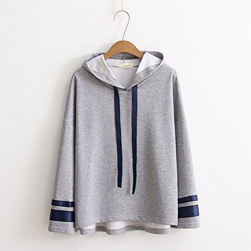 l kreative Moderne und komfortable Lange Herbst und Winter Pullover Lose Streifen Nähen Kit und die kurzen und langen Pullover, Grau, alle Codes (Hässliche Pullover-kit)