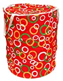 #9: Winner Small Size Red, Green And White Round Print Folding Laundry Bag To Organize Cloths