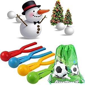 Jiaxingo Winter schneeball Maker Kordelzug Set Winter schneeball Maker Spielzeug fußball Party Tasche schneeball Maker Clip für Kinder Outdoor Winter Toys Schnee Play Games
