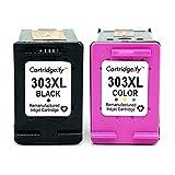 Cartridgeify 303XL Remplacement pour HP 303 XL Cartouche d'encre Pack de 2 Cartouches (Noir+Tri-Couleur), pour HP Envy Photo 6230 7100 7130 7134 7830 7834