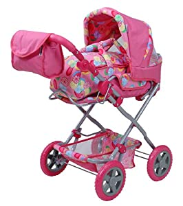 Knorr 61545 Luke - Cochecito de bebé de Juguete, Color Rosa