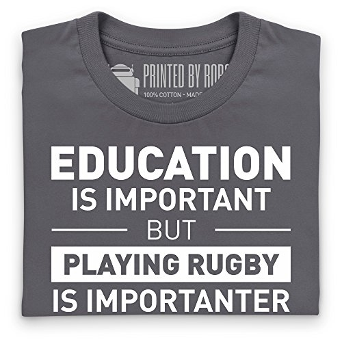 Playing Rugby T-Shirt, Herren Anthrazit