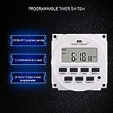 Nowakk SINOTIMER TM618N-2 220V LCD Digital AC Programable Temporizador Interruptor con relé listado en UL con función de Tiempo de Cuenta atrás