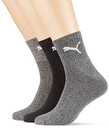 Puma Herren Kurze Sportsocken Socken mit Frotteesohle, 6 Stück, anthrazit/grau Größe: 43-46 Herren Socke Unterwäsche