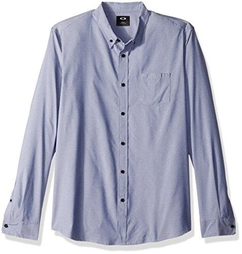 Oakley Men's LS Solid Woven, Fathom, 2XL (Solid-knopf-front-shirt)