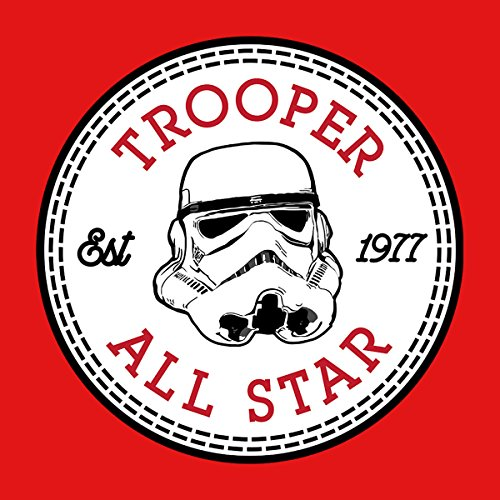 Star Wars Storm Trooper 1 All Star Converse Logo Men's T-Shirt Red