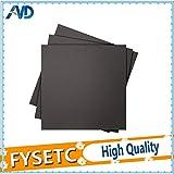 AiCheaX - 4pc 400x400mm Adesivo per letto riscaldato satinato Stampa fogli di costruzione Costruisci adesivo per piattaforma nastro piatto con supporto 3M per CR-10