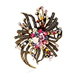 51%2BCzmXwLTL. SL160  High grade Ornaments Corsage Hot New Large Fashion Drop Pendant Wedding Lady Rhinestone Brooch Lanspo (G)UK best buy   Reviews   Price