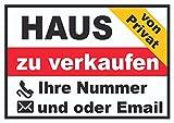 HB_Druck Haus zu Verkaufen von privat Schild A2 (420x594mm)