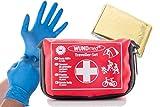 Das Erste Hilfe Set für (Reisen, Outdoor, Sport)| die Sicherheit in kleiner Verpackung mit Erste Hilfe Karte | überall zu verstauen (Set klein + Rettungsdecke)