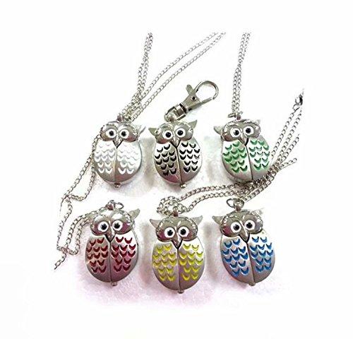 Waymeduo Mini Eule Halskette Uhr Taschenuhr