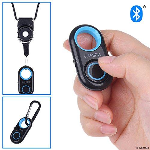 Kamerablenden-Fernbedienung mit Bluetooth®-Technologie - Schlüsselband mit Abnehmbarer Armatur - Karabiner - Erfassen Sie Bilder/Videos drahtlos aus bis zu 10 m Entfernung auf iPhone/Android (6 Fernbedienung Iphone)