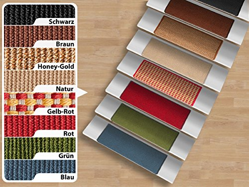Pure Nature Sisal Stufenmatten | Farbe wählbar | rechteckig - natur