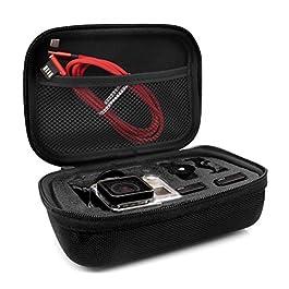 MyGadget Custodia Trasporto per Action Cam & Accessori – Borsa Portatile con Manico – Impermeabile Anti Urto per GoPro Hero 8 7 6 5 4, Xiaomi Yi 4K – Small