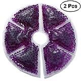 Healifty 2 Stück Thermoperlen Brusttherapie Kalt-/Warmkompresse Brustpflege für Stillende Mütter (Lila)