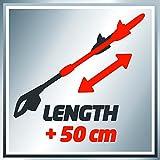 Einhell Elektro Stab Heckenschere GC-HH 9048 (900 Watt, 410 mm Schnittlänge, 20 mm Zahnabstand, Teleskopverlängerung, inkl. Köcher) -