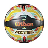 Wilson Beach Volleyball, Outdoor, Freizeitspieler, Offizielle Größe, AVP AZTEC, Orange/Blau, WTH5682XB