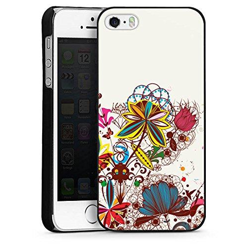 Apple iPhone 4 Housse Étui Silicone Coque Protection Printemps Fleurs Fleurs CasDur noir
