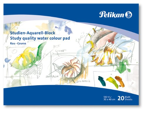Pelikan 251041 - Studien Aquarellblock SR3 / 20 20 Blatt, 30 x 40cm