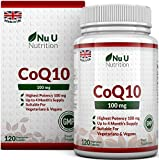 CoQ10 100mg | 120 Coenzyme Q10 Capsules | Made in the UK by Nu U Nutrition