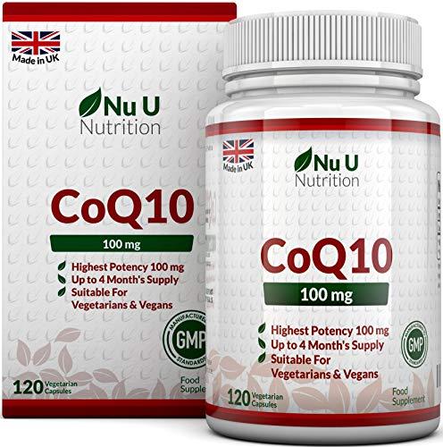 Coq10 Nahrung (Coenzym Q10 100 mg - CoQ10-Nahrungsergänzungsmittel - 120 Kapseln - Nahrungsergänzungsmittel von Nu U Nutrition)