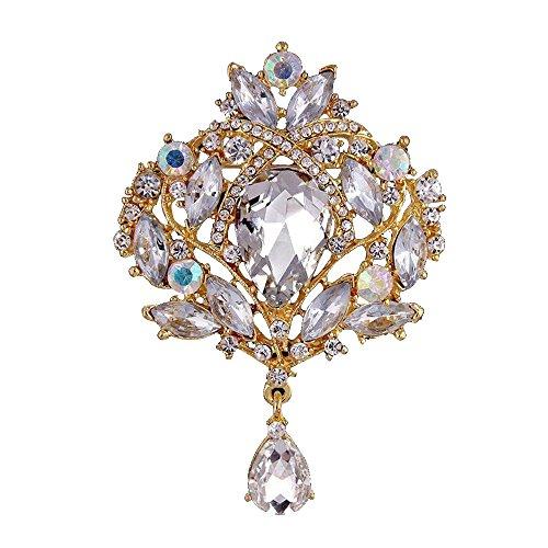 Contever® Femminile Strass Corona Imperiale Spilla Fiore Perno alla Decorazione Vestito / Cappelli / Borsa (Kingdom Hearts Corona)