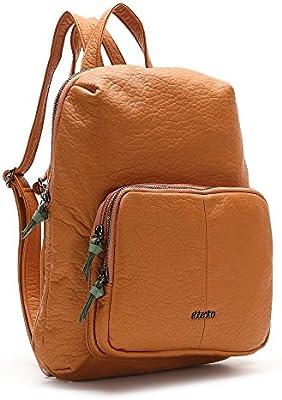 ABBACINO SS16 ABBACINO TRENDY VICTORIA /  COGNAC - Bolso mochila para mujer, color marrón, talla Talla única