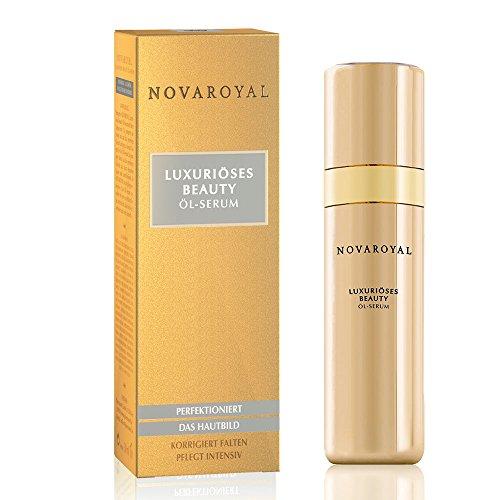 NOVAROYAL® Beauty Öl-Serum | Anti Aging Gesichtspflege | prämierter Wirkstoff gegen Falten um Nase und Mund | Top-Pflege mit Abyssinian-Öl, natürlichen Ceramiden, Kaviar-Extrakt und Perlen-Hydrolysat (Top Pflege)