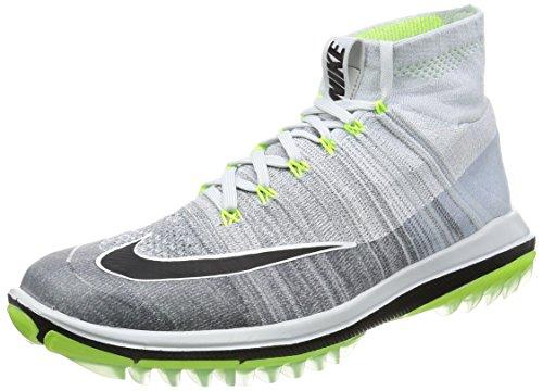 Nike Flyknit Elite - Scarpe da Ginnastica da Uomo, Colore Argento (Pure Platinum/Black-Cool Grey-Volt), Taglia 45